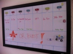 Our weekly workout planning board
